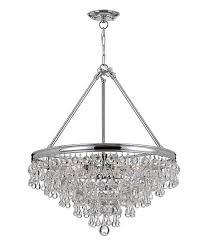 chrome teardrop crystal eight light chandelier