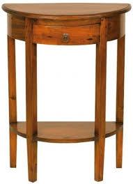 ancient mariner mahogany village half round console table
