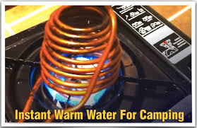 diy on demand instant warm water heater for camping