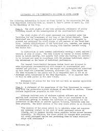 Memo For The Presidents Committee On Civil Rights Harry S