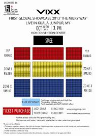 Showcase Live Seating Chart Vixx First Global Showcase 2013 The Milky Way Live In