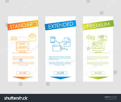 Web Banner Design Price Web Banners Price List Hosting Plans Stock Vector Royalty