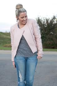blush pink leather zara jacket