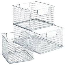 deep freezer baskets steel mesh bins freezer baskets deep freezer storage baskets