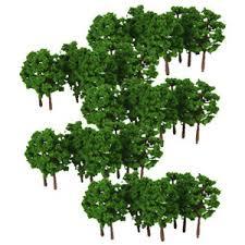 Details About 100pcs Plastic Model Trees N Scale Train Street Layout Railway Landscape 8cm