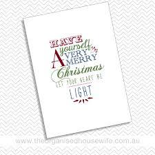 Christmas Wall Art Christmas Wall Art A4 Printable The Organised Housewife Shop