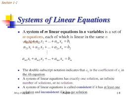 linear equations with no solution math systems of linear equations section 1 1 class 10 maths linear equation solution