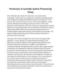 juvenile court essays juvenile justice essays