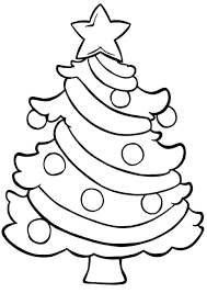 Easy Christmas Tree Easy Tree Coloring Pages For Children Clip ...