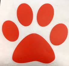 Yeti Color Chart Paw Print Decal Paw Sticker School Spirit Decals For