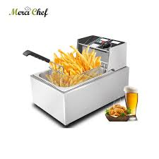 <b>ITOP Food</b> Processor 8L Electric Deep Fryer 110V/220V Stainless ...