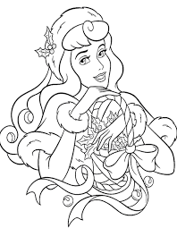 Free Printable Disney Princess Christmas Coloring Pages Color Bros