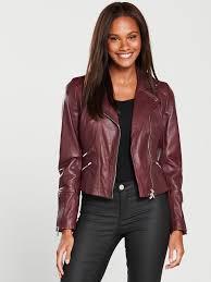 karen millen women coloured leather jacket mu6a7 wjsfkdn