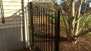 vinyl fence with metal gate. Full Size Of Gate And Fence:metal Fence Vinyl Cost Chain Link Prices With Metal ,