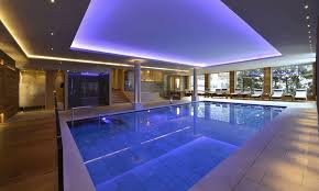 indoor swimming pool lighting. Modren Indoor Square Indoor Swimming Pool Dimensions With Modern Lighting Shades And  Lounge Chairs In S