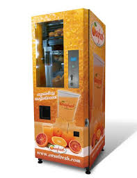 Fresh Squeezed Orange Juice Vending Machine