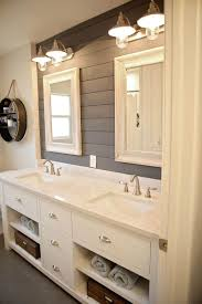 clean lines and bright white bathroom