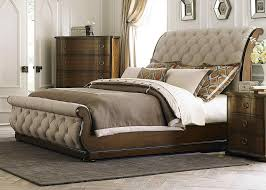 black leather sleigh beds
