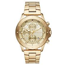 michael kors watches designer watches ernest jones michael kors walsh men s gold tone bracelet watch product number 6426050