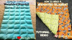 Weighted Blanket Pattern Fascinating How To Make A Weighted Blanket Tutorial Video YouTube