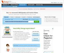 Apa Maker Free Easybib Free Bibliography Maker Mla Apa Chicago Citation