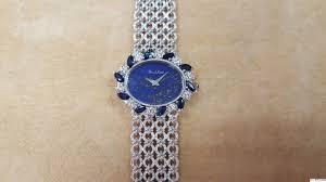 women bueche girod vintage white gold diamond marquise sapphire ladies bueche girod vintage 18k white gold diamond marquise sapphire watch