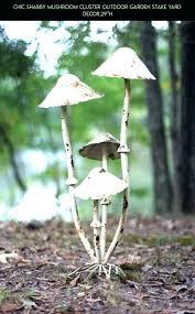 mushroom yard decor chic shabby cer outdoor garden stake drone wonderful ceramic how to make wooden ceramic mushroom stool yard decor outdoor garden