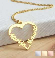 silver heart shaped necklace 2 names jpg