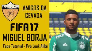 FIFA 17 - Tutorial de Face - Miguel Borja [Pro Look Alike] - YouTube