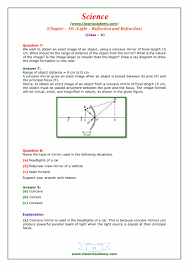 Parallel Beam Of Light Definition Ncert Solutions For Class 10 Science Chapter 10 Light