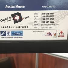Austin Moore At Szott Ford