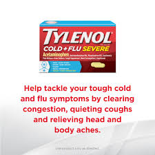 Tylenol Cold And Flu Severe Dosage Chart Tylenol Cold Flu Severe Caplets For Multi Symptom Relief
