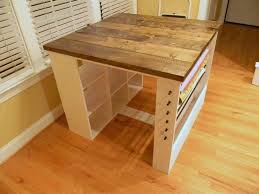 Patchwork Project Table via Etsy.I would love to have a craft table like  this, maybe I can convince hubby to make for me.