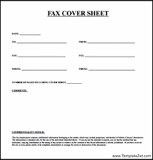 Basic Fax Cover Sheet | Cover Letter
