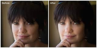 lightroom skin blemish before and after