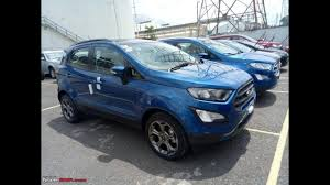 2018 Ford EcoSport Titanium S spotted in India in the Lightning ...