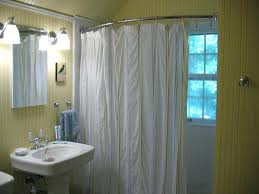curved shower curtain rod maytex smart no drill tension excell brushed nickel