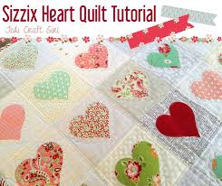 247 best Sizzix dies/quilts images on Pinterest | Box, Card making ... & Heart Applique Quilt Tutorial using Sizzix Heart Die Adamdwight.com