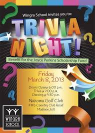 Flyers For Fundraising Events Trivia Night Event Flyer Special Event Flyer Designs Trivia