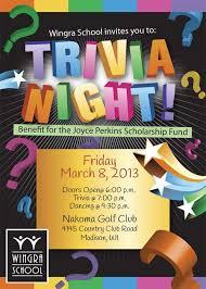 Trivia Night Event Flyer Trivia Event Flyers
