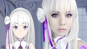 emilia cosplay makeup tutorial re zero ゼロから始める異世界生活