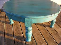 Check out our distressed coffee table selection for the very best in unique or custom, handmade pieces from our coffee & end tables shops. Beautiful Funky Handcrafted Distressed Turquoise 36 Inch Round 18 Inch Tall Coffee Table Distressed Furniture Diy Painted Coffee Tables Coffee Table Makeover