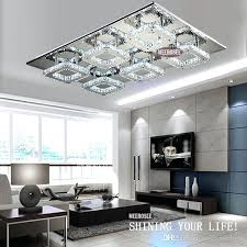ceiling mounted crystal chandelier modern led crystal light square surface mounted lamp crystal chandeliers ceiling light