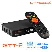 GTMEDIA GTT2 Smart TV BOX Android 6.0 4K DVB-T/T2/Cable/ISDBT 2.4G Built In  Wifi Netflix Youtube Amlogic 2+8GB GTPlayer STB - Big Deal #D0C3D2