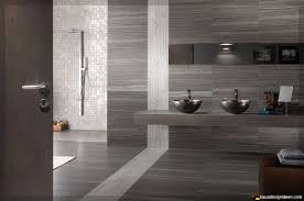 Moderne Badezimmer Fliesen Grau Wohndesign