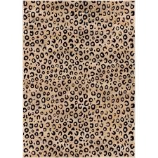 well woven dulcet leopard black 9 ft x 13 ft animal print area rug