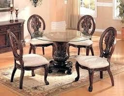 modern wooden dining table with glass top designs design round wood and