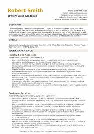 Jewelry Sales Resume Examples Jewelry Sales Associate Resume Samples Qwikresume