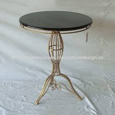 china round coffee table with gold metal legs black mdf table top chic figures
