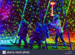 a tunnel of lights a hudson holiday light show at hudson gardens littleton colorado usa